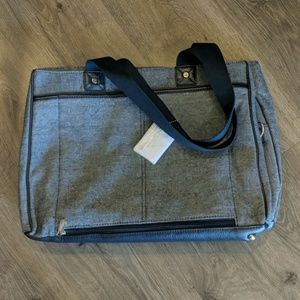 New with Tags - Navy Tweed Computer Bag